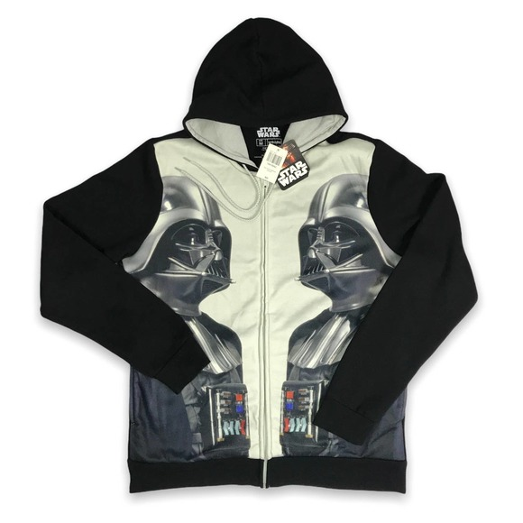 NEW Disney STar Wars Darth Vader Zip up hoodie